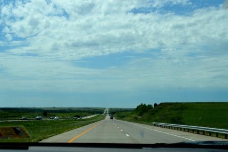 Một đoạn xa lộ cao tốc I-70 W.
