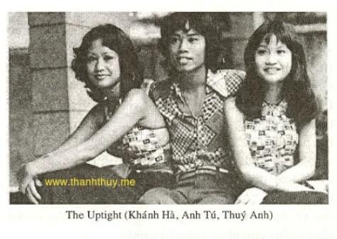 """Ban """"The Uptight"""" - Khánh Hà, Anh Tú, Thúy Anh."""