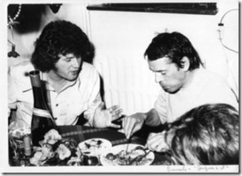 Terry Jacks và Jacques Brel tại Brussels.