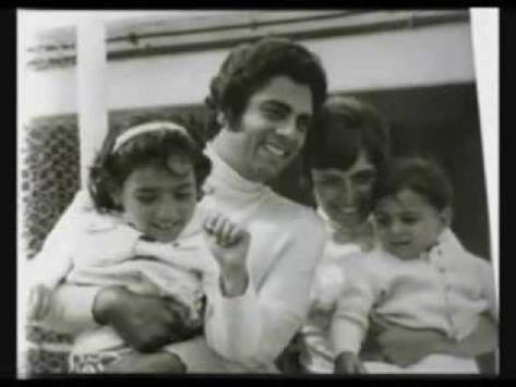 Gia đình Enrico Macias và Suzy cùng hai con.