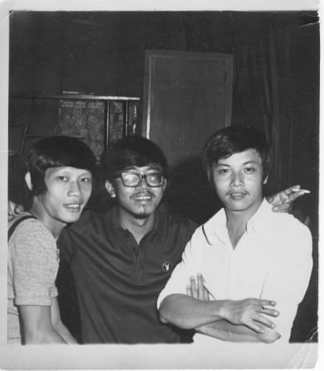 Từ trái qua: Tùng Giang, Trường Kỳ, Jo Marcel – 1967)