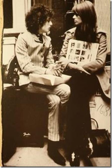 Bob Dylan và Françoise Hardy.