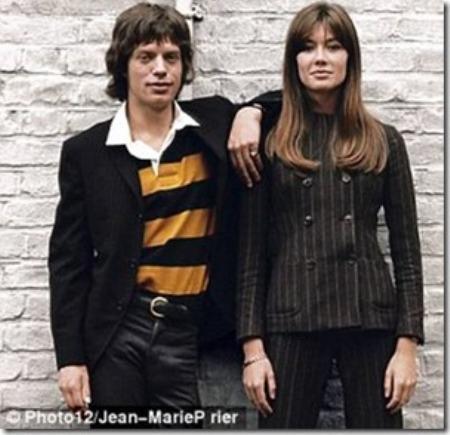 Mick Jagger và Françoise Hardy.