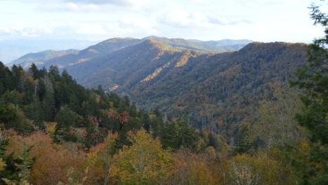 Phong cảnh bên trái nhìn từ đài ngắm phong cảnh.