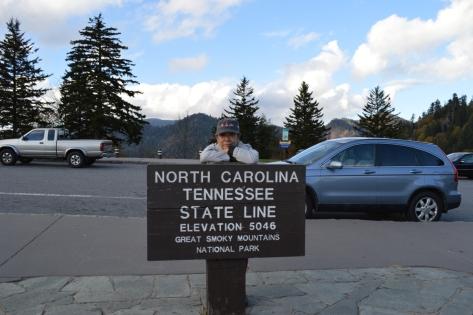 Điểm dừng ranh giới giữa hai bang North Carolina & Tennessee. Cao 1538m.