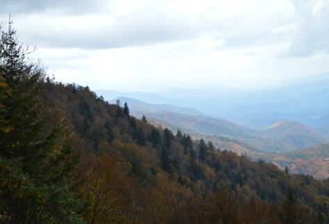 Điểm dừng lại cuối cùng trước khi đến Công Viên Quốc Gia Great Smoky Mountains. Nhìn bên trái.