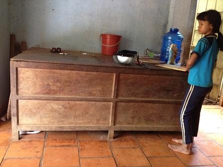 Cộ đựng lúa của gia đình mẹ Gai, ở Sóc Bù Ramang – Bù Đăng.