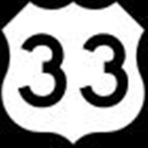 Ký hiệu xa lộ liên bang 33 trong hệ thống xa lộ liên bang cũ.