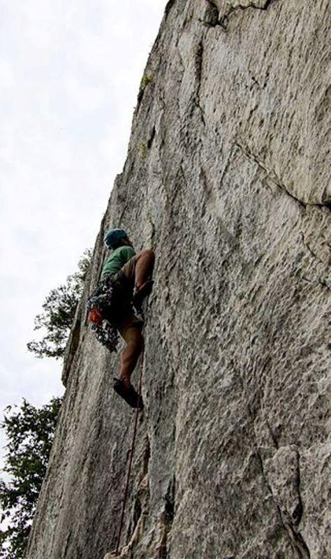 Rock climber trên Seneca Rocks.