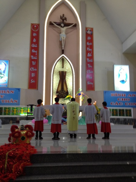 Thánh lễ khai giảng năm học giáo lý Nk. 2016 – 2017. Tại giáo xứ Bù Đăng sáng Chúa nhật 25/ 9/ 2016.