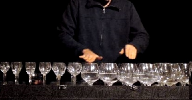 The sound of glass harp
