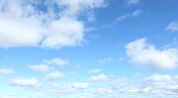 Mây trắng ngang trời