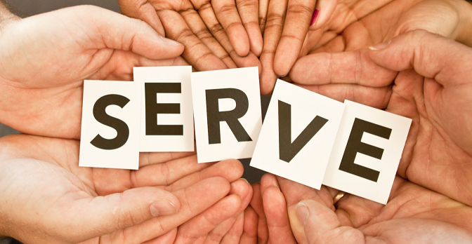 Telling the youths: Serve other people