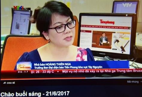 TN5_Lên tiếng bảo vệ đồng nghiệp trong Chương trình Chào buổi sáng ngày Nhà báo 2017